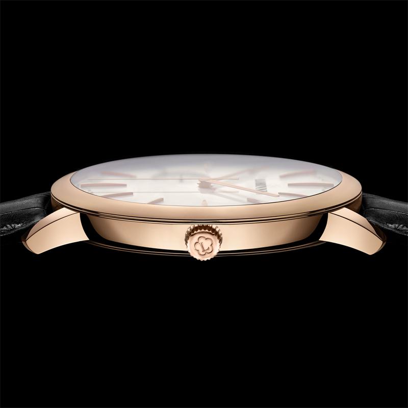 罗宾尼瑞士正品手表男士超薄全自动机械表真皮带防水商务休闲男表