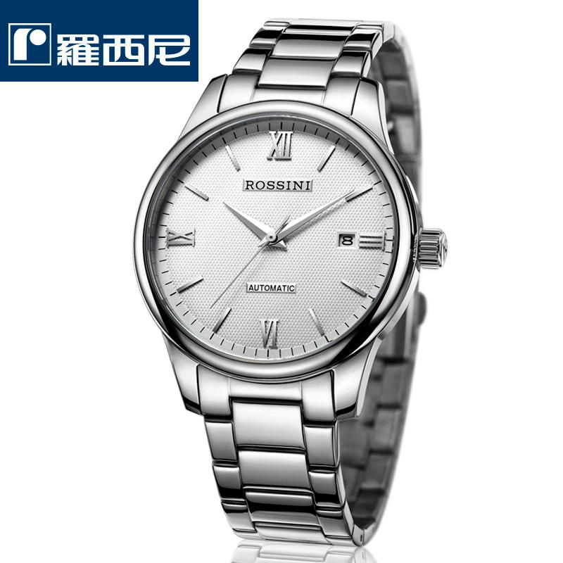 罗西尼机械表正品防水男表时尚不锈钢男士手表商务热销腕表R5507