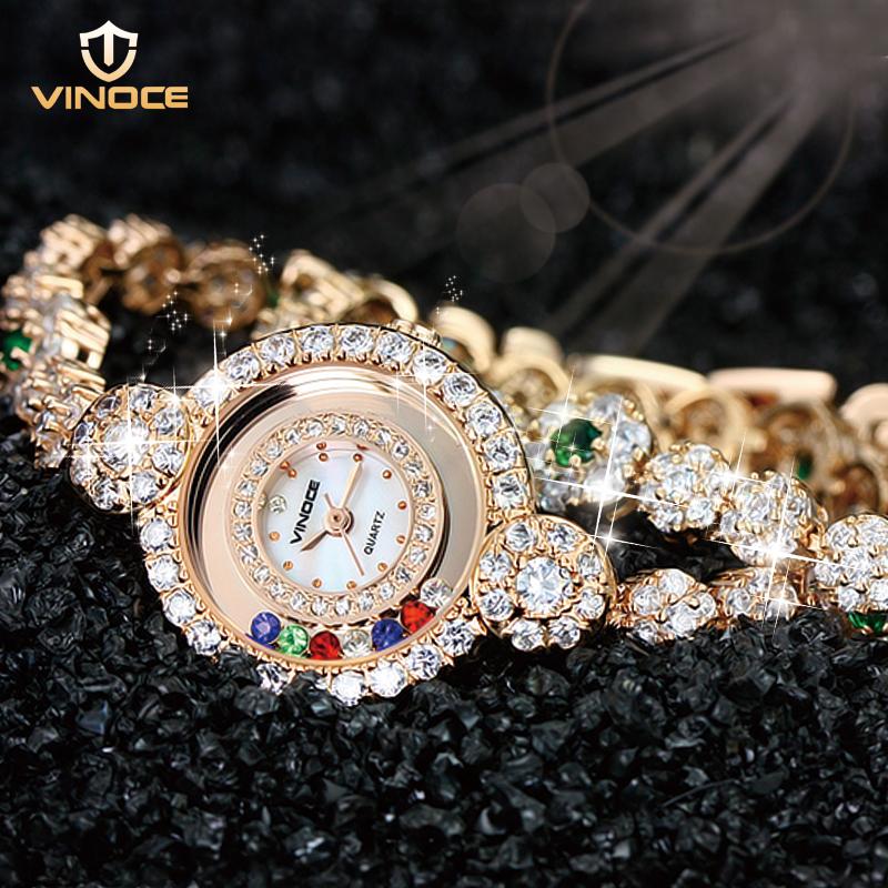 Vinoce/威诺时正品女士手表 女表手链表防水奥钻缠绕手表女手链表
